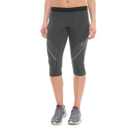 La Sportiva Prima 3/4 Running Tights (For Women) in Midgrey - Closeouts