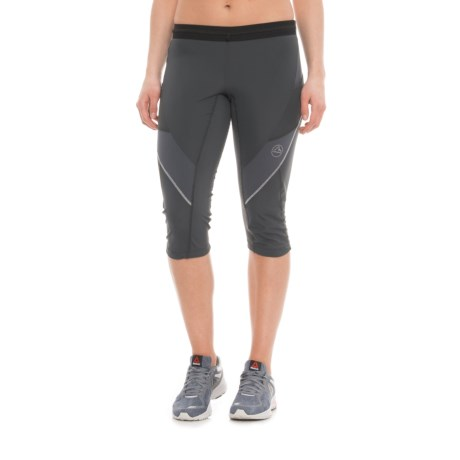 La Sportiva Prima 3/4 Running Tights (For Women) in Midgrey