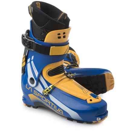 La Sportiva Sideral 2.0 Alpine Touring Ski Boots (For Men) in Yellow/Blue - Closeouts