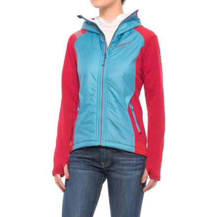 La Sportiva Siren 2.0 PrimaLoft® Hoodie - Insulated, Full Zip (For Women) in Blue Moon/Berry - Closeouts
