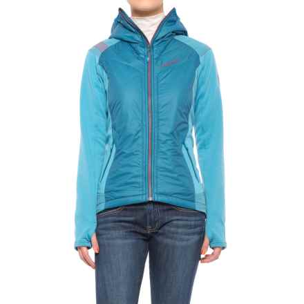 La Sportiva Siren 2.0 PrimaLoft® Hoodie - Insulated, Full Zip (For Women) in Fjord/Blue Moon - Closeouts