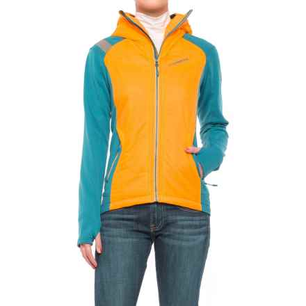 La Sportiva Siren 2.0 PrimaLoft® Hoodie - Insulated, Full Zip (For Women) in Papaya/Fjord - Closeouts