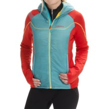 La Sportiva Siren Polartec® PrimaLoft® Jacket (For Women) in Iceblue/Red - Closeouts
