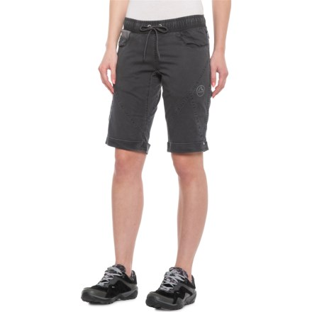 4705f08198 La Sportiva Siurana Shorts - Stretch Cotton (For Women) in Carbon -  Closeouts
