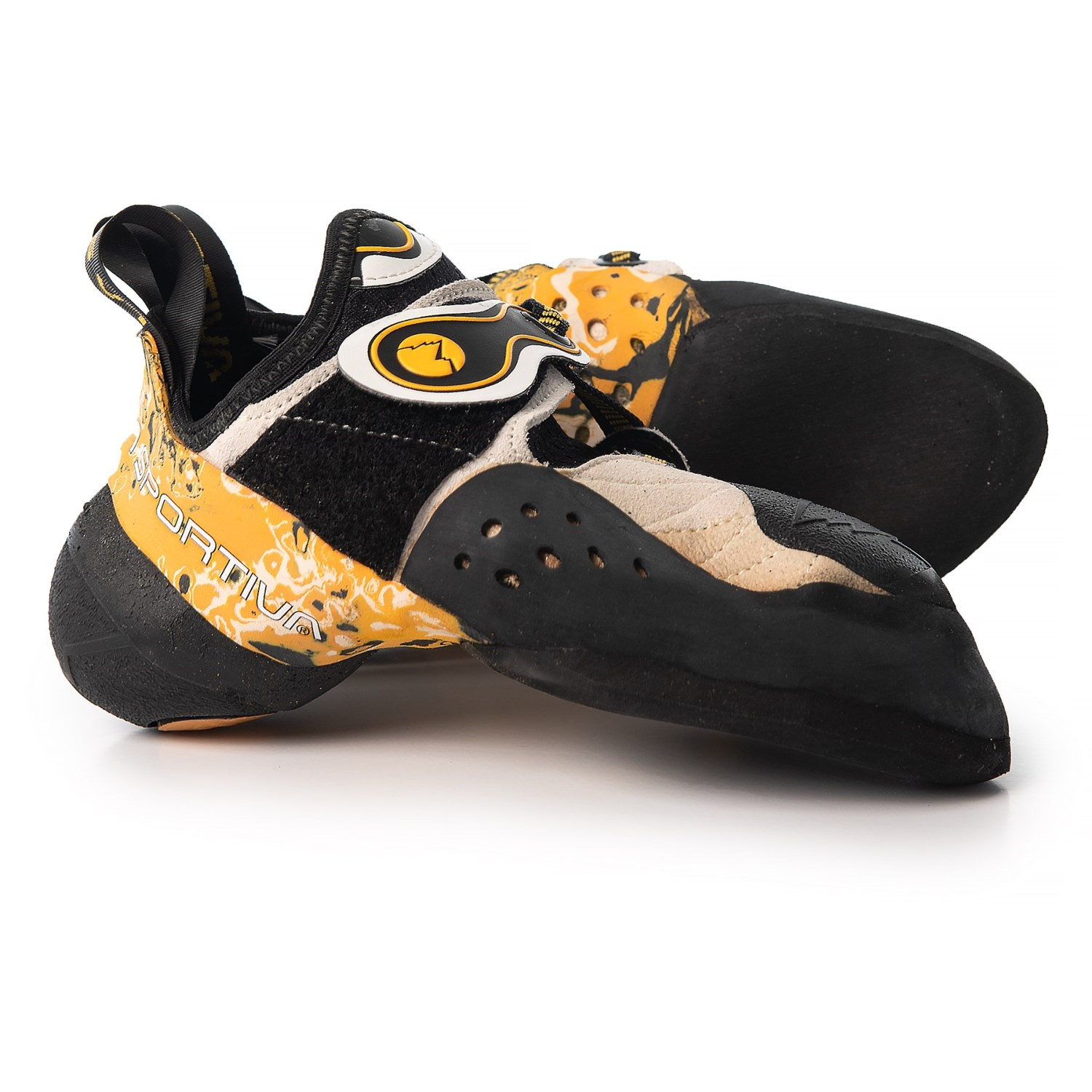 8d4450a057 La Sportiva Solution Climbing Shoes (For Men and Women) in White Yellow