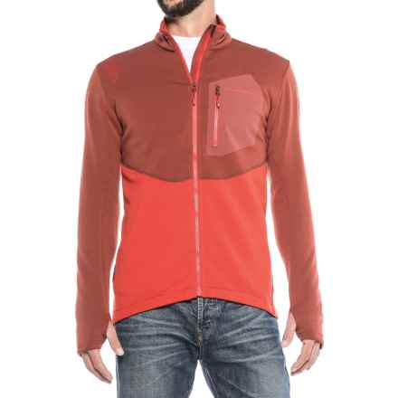 La Sportiva Spacer Jacket - Full Zip (For Men) in Rust Red - Closeouts