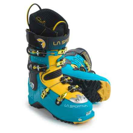 La Sportiva Sparkle Alpine Touring Ski Boots (For Women) in Malibu Blue/Yellow - Closeouts