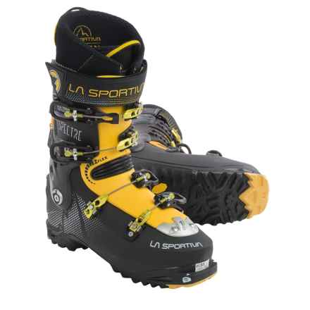 La Sportiva Spectre Alpine Touring Ski Boots - Dynafit Compatible (For Men) in Black/Yellow - Closeouts
