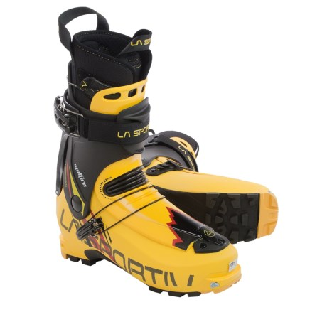 La Sportiva Spitfire Alpine Touring Ski Boots - Dynafit Compatible (For Men) in Yellow/Black