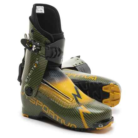 La Sportiva Stratos Cube Alpine Touring Ski Boots (For Men) in Carbon/Yellow - Closeouts