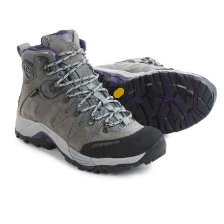 La Sportiva Thunder III Gore-Tex® Hiking Boots - Waterproof, Nubuck (For Women) in Grey/Purple - Closeouts