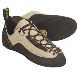 La Sportiva Tradmaster Climbing Shoes - Leather (For Men and Women) in Sand/Black/Orange