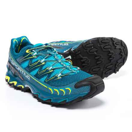 La Sportiva Ultra Raptor Trail Running Shoes (For Men) in Blue/Sulphur - Closeouts