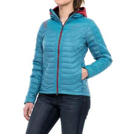 La Sportiva Universe Hooded Down Jacket - 700 Fill Power (For Women) in Blue Moon/Berry - Closeouts