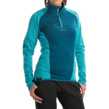 La Sportiva Vega Polartec® Power Dry® Pullover Shirt - Zip Neck, Long Sleeve (For Women) in Fjord/Malibu Blue - Closeouts