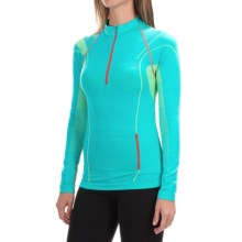 La Sportiva Venus Base Layer Top - Zip Neck, Long Sleeve (For Women) in Malibu Blue - Closeouts