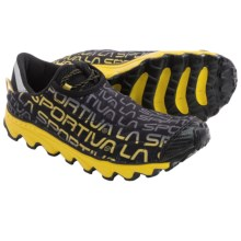 La Sportiva Vertical K Trail Running Shoes (For Men) in Black/Yellow - Closeouts