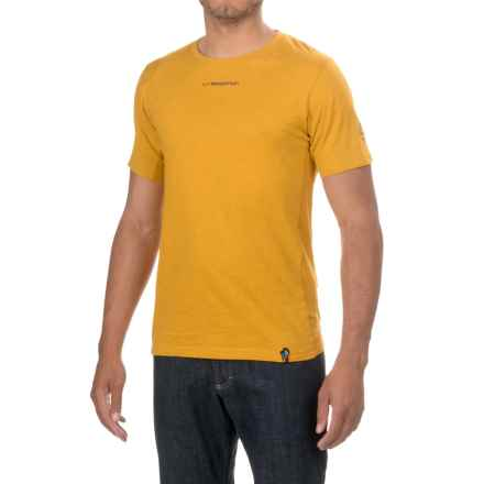 La Sportiva Vintage Logo T-Shirt - Cotton,Short Sleeve (For Men) in Nugget - Closeouts