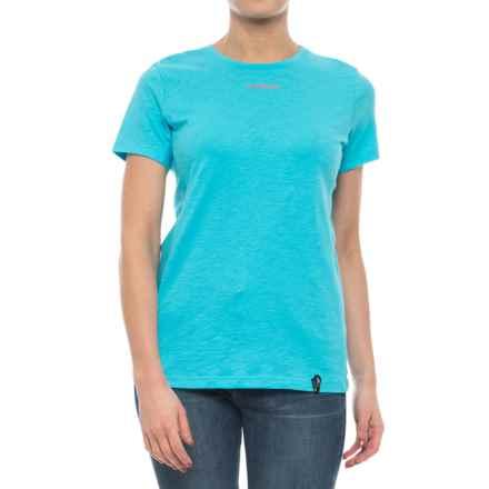 La Sportiva Vintage Logo T-Shirt - Short Sleeve (For Women) in Malibu Blue - Closeouts
