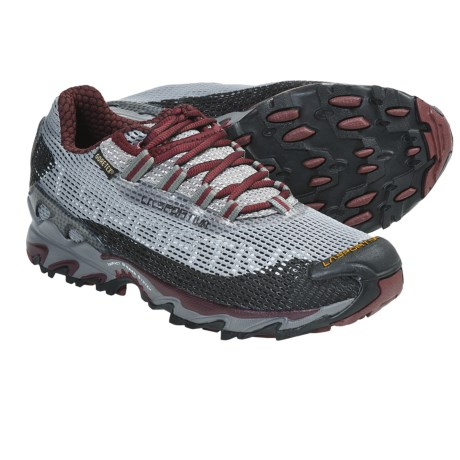 La Sportiva Wildcat Gore-Tex® Trail Running Shoes - Waterproof (For Women) in Grey/Plum