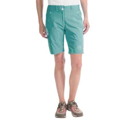 La Sportiva Zen Bermuda Shorts (For Women) in Ice Blue - Closeouts