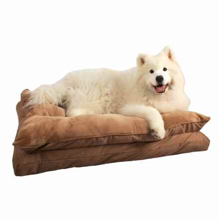 "La Ti Paw Tufted Pillow Top Dog Bed - 36x29"" in Tan - Closeouts"