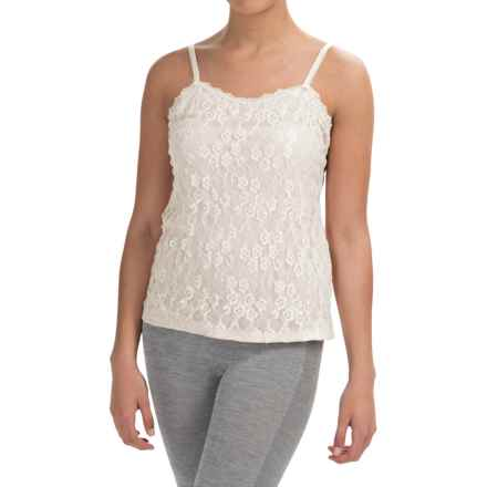 Lace Front Camisole (For Women) in White - 2nds