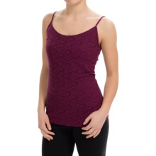 Lace-Front Tank Top (For Women) in Burgundy - 2nds