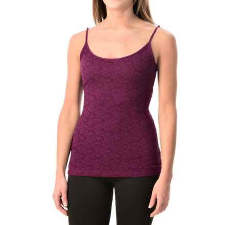 Lace-Front Tank Top (For Women) in Crisp Plum - Closeouts