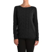 Lace Jacquard Shirt - Long Sleeve (For Women) in Black - 2nds