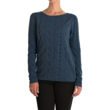 Lace Jacquard Shirt - Long Sleeve (For Women) in Blue - 2nds