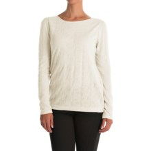 Lace Jacquard Shirt - Long Sleeve (For Women) in Ivory - 2nds