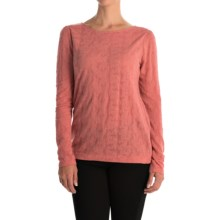 Lace Jacquard Shirt - Long Sleeve (For Women) in Pink - 2nds