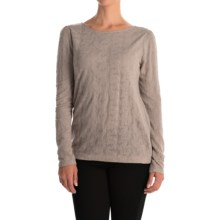 Lace Jacquard Shirt - Long Sleeve (For Women) in Wine - 2nds