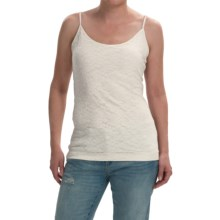 Lace Tank Top - Stretch Rayon, Spaghetti Straps (For Women) in White - 2nds