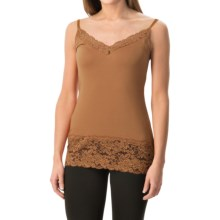Lace Trim Knit V-Neck Camisole (For Women) in Brown - 2nds