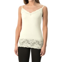 Lace Trim Knit V-Neck Camisole (For Women) in Cream - 2nds
