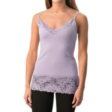 Lace Trim Knit V-Neck Camisole (For Women) in Lilac - 2nds