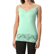 Lace Trim Knit V-Neck Camisole (For Women) in Mint - 2nds