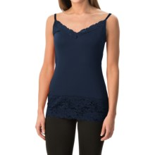 Lace Trim Knit V-Neck Camisole (For Women) in Navy - 2nds