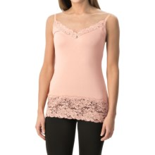 Lace Trim Knit V-Neck Camisole (For Women) in Pink - 2nds