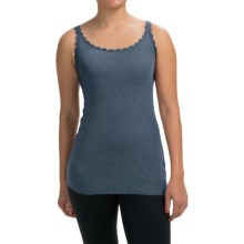Lace-Trim Tank Top (For Women) in Blue - 2nds