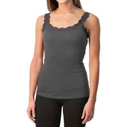 Lace-Trim Tank Top (For Women) in Charcoal - 2nds