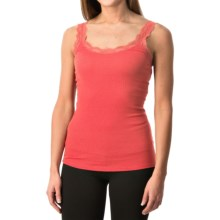 Lace-Trim Tank Top (For Women) in Coral - 2nds