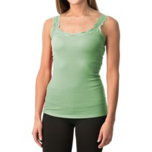 Lace-Trim Tank Top (For Women) in Mint - 2nds