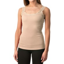 Lace-Trim Tank Top (For Women) in Peach - 2nds