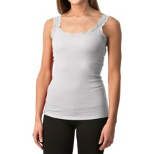 Lace-Trim Tank Top (For Women) in White - 2nds
