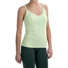 Lace-Trimmed Camisole - Modal-Cotton (For Women) in Light Green - 2nds