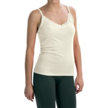 Lace-Trimmed Camisole - Modal-Cotton (For Women) in White - 2nds