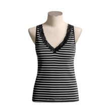 Lace-Trimmed Tank Top (For Women) in Black/White - 2nds